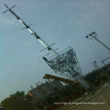 Torre de transmisión de energía de tubo de acero de circuito único de 110 kV