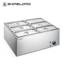 6 Pans Fast Food Thermal Insulation Counter Top Aquecedor Elétrico Eletrônico de Comida Buffet