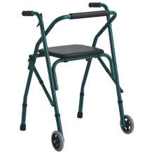 Caminata plegable de aluminio con asiento en la parte superior
