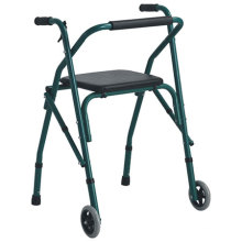 Aluminum Foldable Walker with Seat on Top