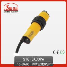 Photoelektrischer Schalter (S18-3A-30PA) Photoelektrischer Sensor 10-30VDC zerstreuter Reflexions-Art Normaler offener Abstand der Öffnungs-30cm