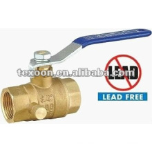 low lead threaded drain full port brass ball valves
