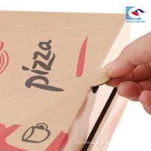 benutzerdefinierte kostenlos falten pizza papier box geformt verpackung box