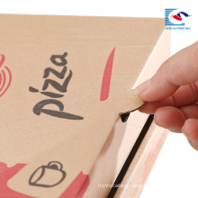 custom free folding pizza paper box shaped packaging box