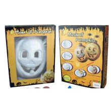Kinder malen DIY Zeichnung Halloween Kürbis Masken