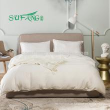2018 100% puro bambu personalizado cama rayon tecido macio conjunto de cama