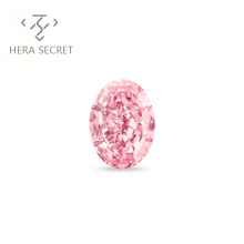 ForeverFlame  fancy pink 3.5ct 8mm*10mm Oval Cut diamond CVD CZ Moissanite haute couture 18K ring