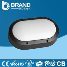 Alumínio IP65 Outdoor Oval Wall Pack LED Bulkhead luzes jardim LED Bulkhead luz