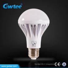 7W, aluminium + ampoule en plastique, ampoules E27, ampoule en aluminium 230 angle de faisceau