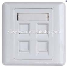 China proveedor 86 tipo 1 2 3 4 5 6 puerto 86 tipo rj45 cat5e cat6e socket pared placa frontal