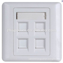 China supplier 86 type 1 2 3 4 5 6 port 86 type rj45 cat5e cat6e socket wall face plate