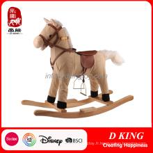 Jouet de cheval à bascule en bois de cavalier de printemps de matériel de jeu d'enfants