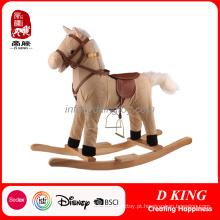 Brinquedo de madeira do cavalo de balanço do cavaleiro da mola do equipamento do campo de jogos das crianças