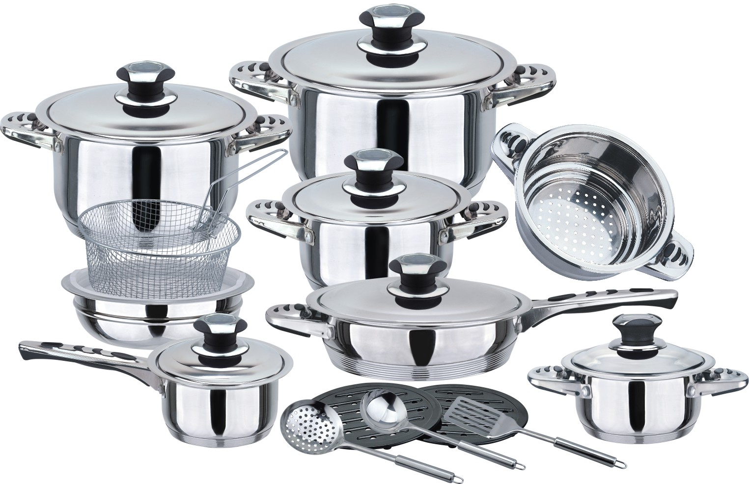 Cookware set with ss lid