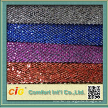 Cuero chino de la PU del brillo de la moda para el bolso o la decoración