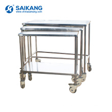 SKH006-102 Stainless Steel Medicine Transport Moving Trolley