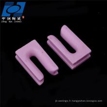 pièces de chauffe en céramique de type u céramique rose al2o3