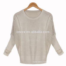 woman open stitch bat sleeves spring summer knitwear