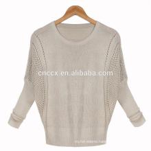 woman open stitch bat sleeves spring summer knitwear