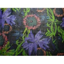Boa qualidade algodão e rami material impresso tecido (DSC-4172)
