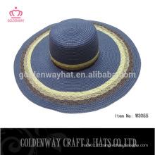 Chapeaux pliants de soleil en papier bleu pour gros