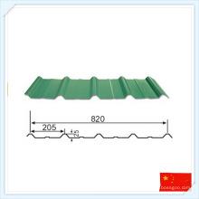 Placa de aço pré-fabricada padrão GB para telhado ou parede