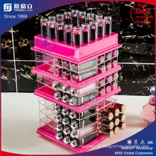 Rose Red Acrylic Makeup e Lipstick Organizer Gloss Organizer