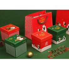 paper christmas box packaging for apple