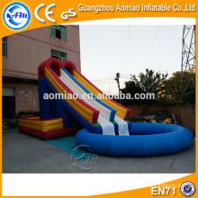 Diapositiva caliente de la piscina de la casa de la venta / diapositiva inflable grande de la piscina / diapositiva inflable de la piscina inflable para la venta