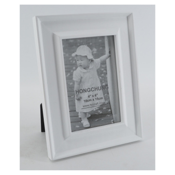 White Photo Frame Made of Wood for Home Decoration