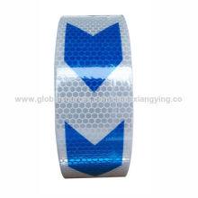 PVC-Pfeil weiß und blau Design Reflexstreifen für LKW