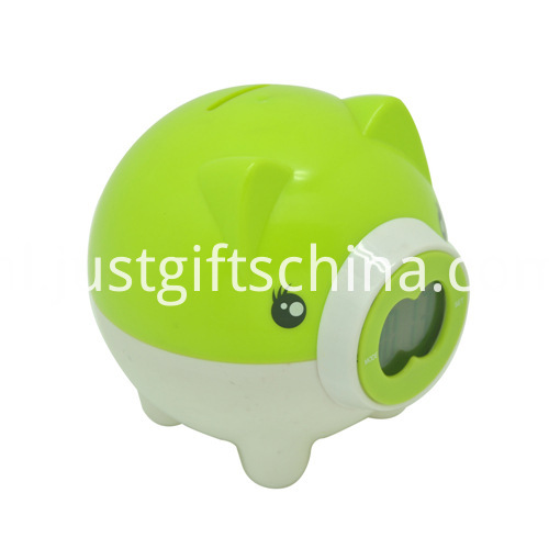 Promotional Plastic Electronic Saving Pot Clock_1