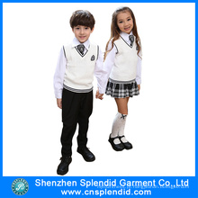 2016 Modelo Novo Winter Fashion Kindergarten Uniform Design