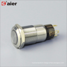 4 Pins Normally Closed Latching LED Metal 12 volt pushbutton switch