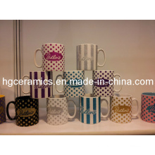 10 Oz Ceramic Mug with Glitter Logo