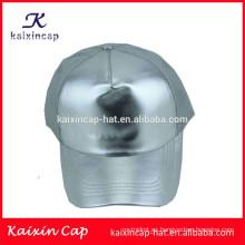 Gorra de malla curvada en blanco de plata del camionero