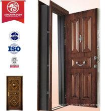 Puerta blindada de diseño de panel personalizado de fábrica, Puertas de acero de Turquía Puertas de swing externas, Puerta de seguridad turca de moda