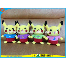 Hot Selling Novelty Design Stuffed Pokemon Go Pocket Monsters Plush Toy Cute Yellow Interstellar Pikachu