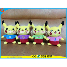 Hot Selling Novelty Design Pokemon recheado Go Pocket Monsters Plush Toy Cute Yellow Interstellar Pikachu