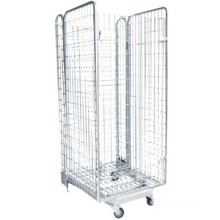 high quality wire mesh roll container,steel roll container