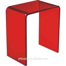 Table basse en acrylique rouge
