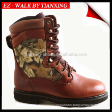 Hunting boots with suede and camoflage upper