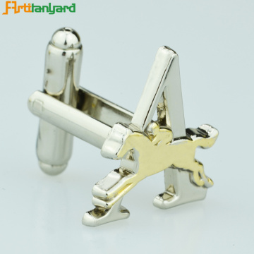Men's Gold Cufflinks With Customized Design
