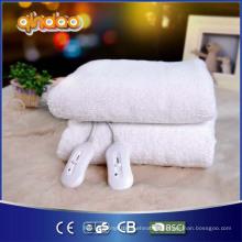 Colchón de lana de lana sintética calentada con cuatro calor