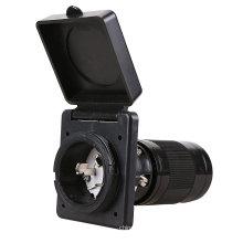ETL-cetificatioon RV 50 Amp Power Inlet, White/black