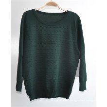 Ottoman Design Round Neck Knit Women Sweater