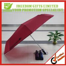 Promo Vented Automatic Logo Impresso Custom Folding Umbrella
