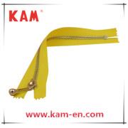 5# Imitation Platinum Close End Metal Zipper, Brass Zipper