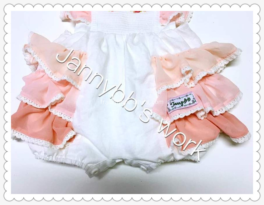Fille rose broderie Bubble