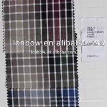 Fine quality 100%cotton check shirting fabric